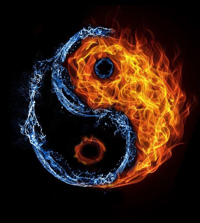 Water Fire Ying Yang By Lucasmottavalerio Yin Yang Designs Yin Yang Art Ying Yang Tattoo