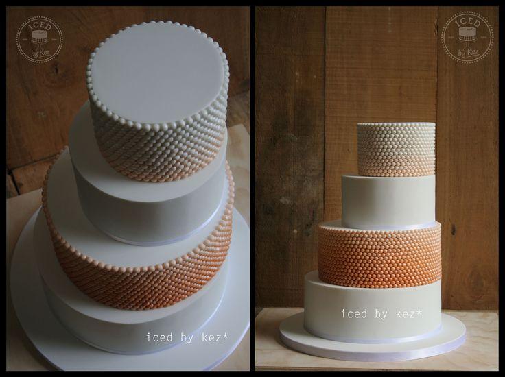 Ombre bead wedding cake. Love this design :) kez* x