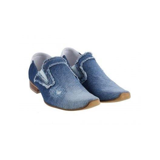Pánske kožené topánky modré PT004 - manozo.hu