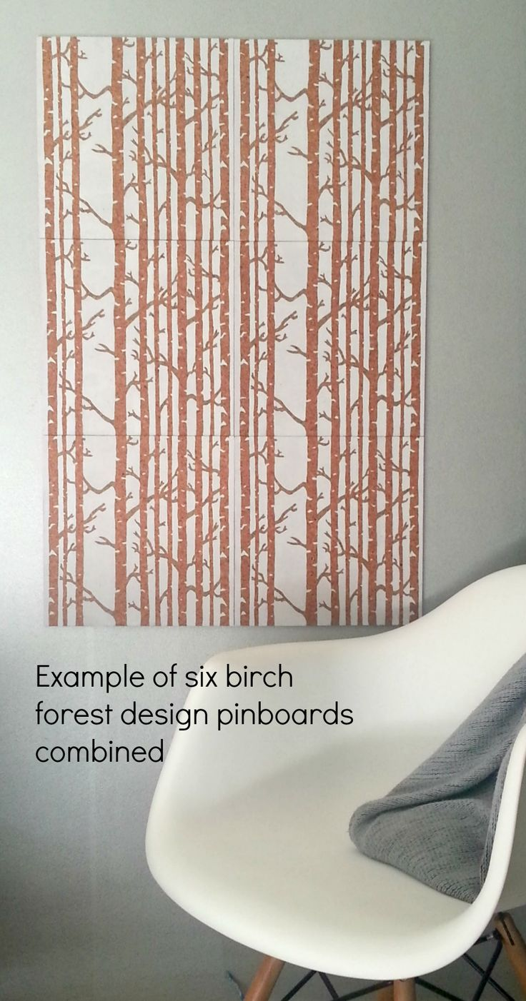 Birch design cork pinboard for home or office  https://www.etsy.com/listing/256107449/birch-forest-design-pinboard-hand #pinboard #corkboard #birch #scandi #scandistyle http://binaryoptions360review.com/
