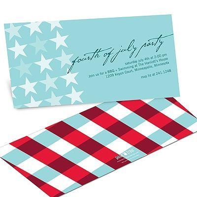 Stars and Stripes -- 4th of July Party Invitations