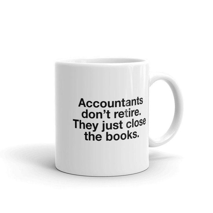 Accounting mug retirement gift retired accountant