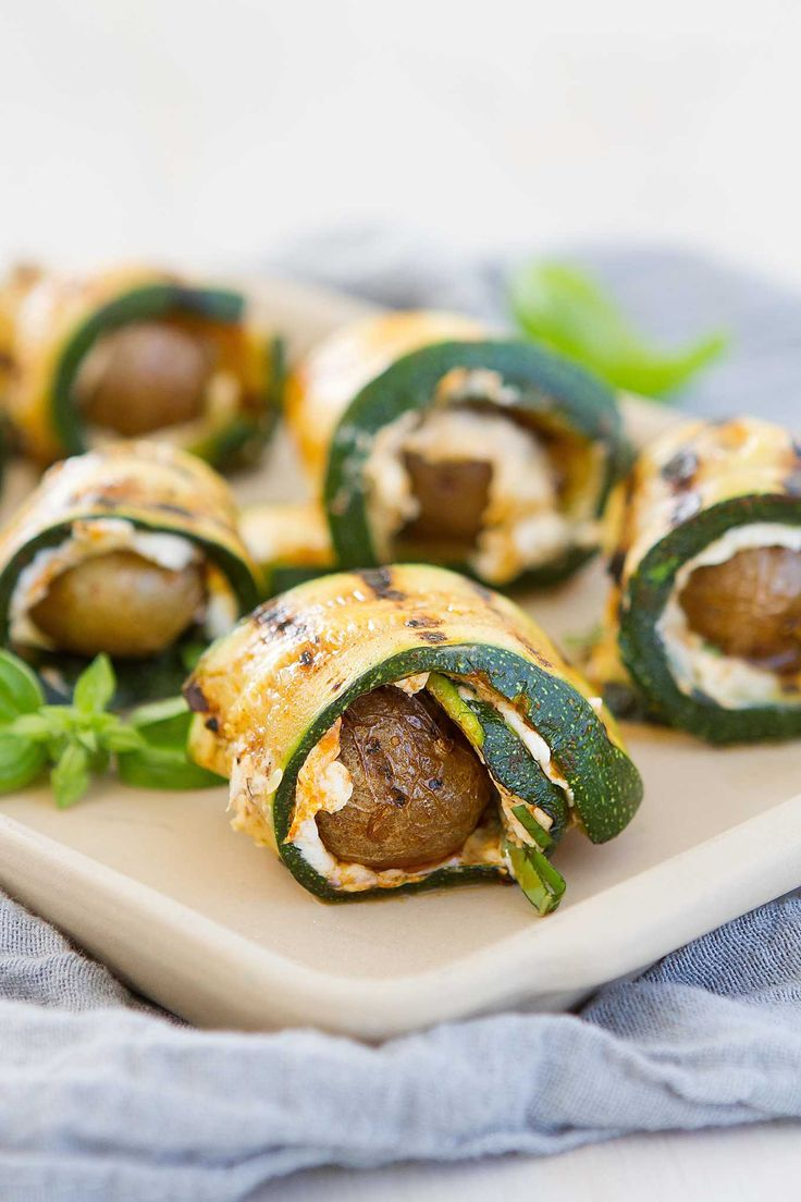 These fantastic vegetarian Grilled Zucchini Potato Rolls with Goat Cheese are great as an appetizer or even a light lunch. from @cookincanuck