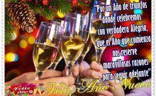Feliz Año y Gracias a Dios por un año más de vida, esta tarjeta es para dar gracias primeramente a Dios, el dador de todas las cosas. Feliz Año y Gracias a