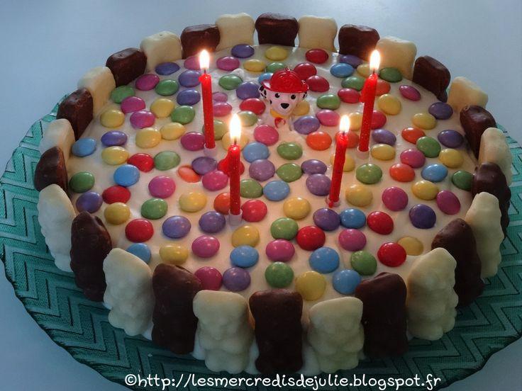 Les Mercredis de Julie : Gâteau chocolat/mousse chocolat blanc - Thème Pat'Patrouille