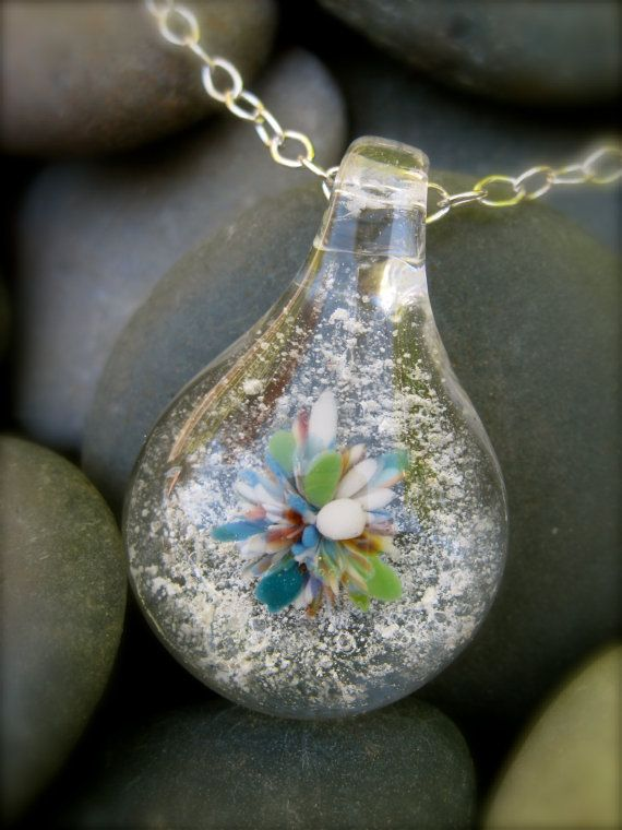 Custom Cremation Jewelry - teardrop pendant on sterling silver