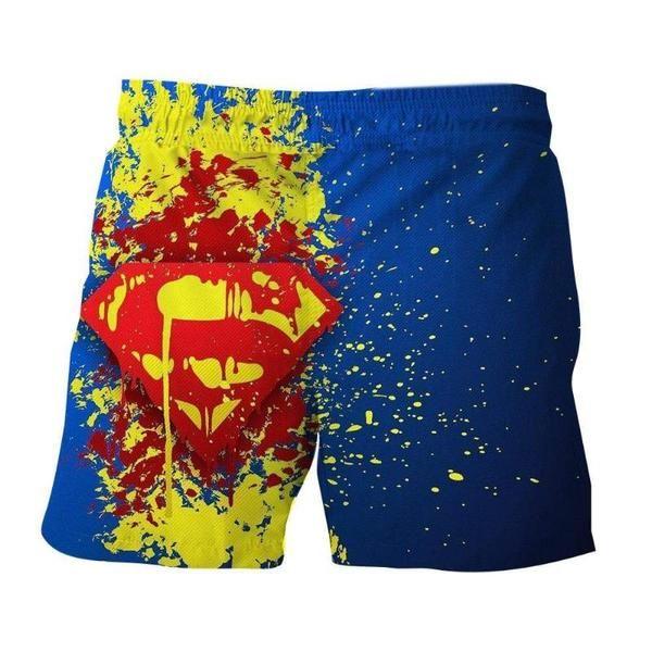 Splatter Logo Superman 3D Printed Shorts