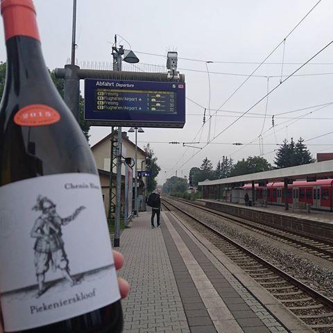 Waiting for the train!! #germany #freising #piekenierskloofwines #cheninblanc
