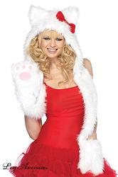 CAPUCHE ECHARPE LE CHAT BLANC  http://www.prod4you.com/#!costumes-deguisements-sexy/c1juw