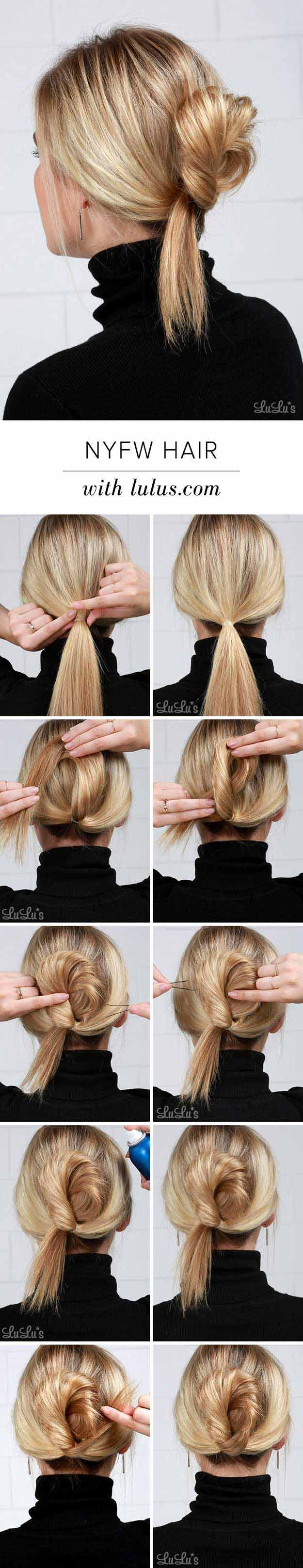 Best Summer Hairstyles - NYFW Inspired Hair Tutorial - Easy And Beautiful Short Hairstyles And Easy Summer Hairstyles That Are Cute And Work Great For Medium Hair, Long Hair, Short Hair, And Very Short Hair. Hairstyles, Undo's, Braids, And Ponytail Looks To Keep You Cool This Summer. Great Step By Step Tutorials And Tricks For Teens And Quick And Cute Looks For Brunettes With Shoulder Length Hair. Great Summer Hairstyles For The Beach, For Any Color, And Special Hacks For No Heat Boho Looks…