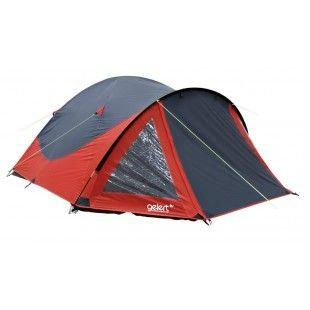 Tente 4 personnes de camping avec porche Gelert Rocky Rouge