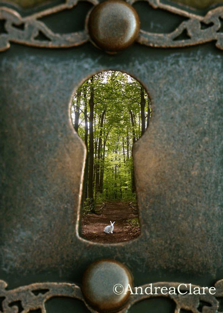 Alice in Wonderland White Rabbit Key Hole Fine Art Photograph 16x20 Whimsical wall decor. $59.00, via Etsy.