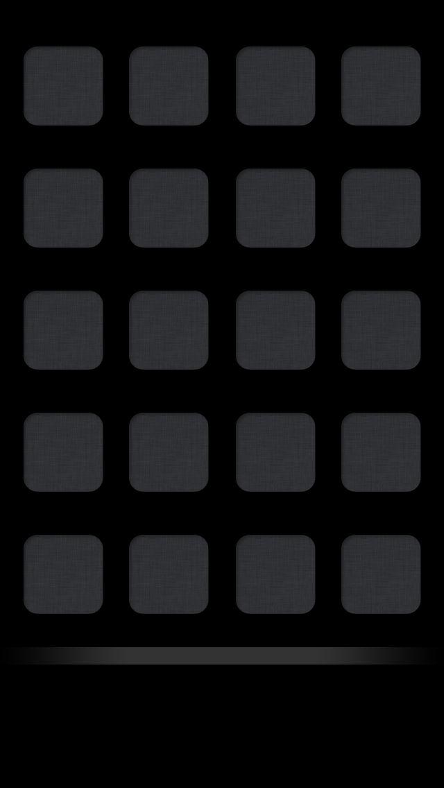 Plain Black Shelf Iphone 5 Icon Wallpaper