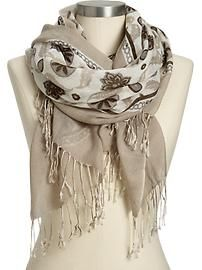 Old Navy has some great scarves this year, bought this one the other day!