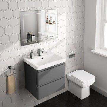 800x600mm Loxely Mirror & Shelf [PT-MC151] - £94.99 : Platinum Taps & Bathrooms