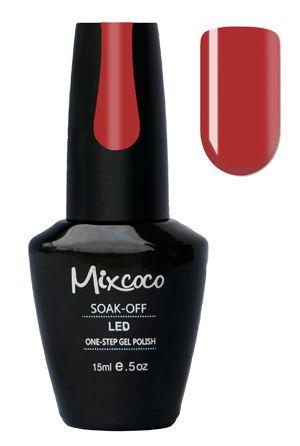 Mixcoco One-Step Gellak # 07 Fruit Sangria - verkrijgbaar viawww.beautymilleni...- prachtige klassieke rood gelpolish kleur! Mixcoco One Step Gellak vereist geen base of top coat! Een prachtige#gelmanicurebinnen 5 minuten! Zeer geschikt voor beginners! 2 weken prachtig gelakte#nagels! Prijs: €16,95  #nails#Mixcoco#gellak#gelnails#gelnagels#gelpolish#gellac#gellish#gelish#soakoff