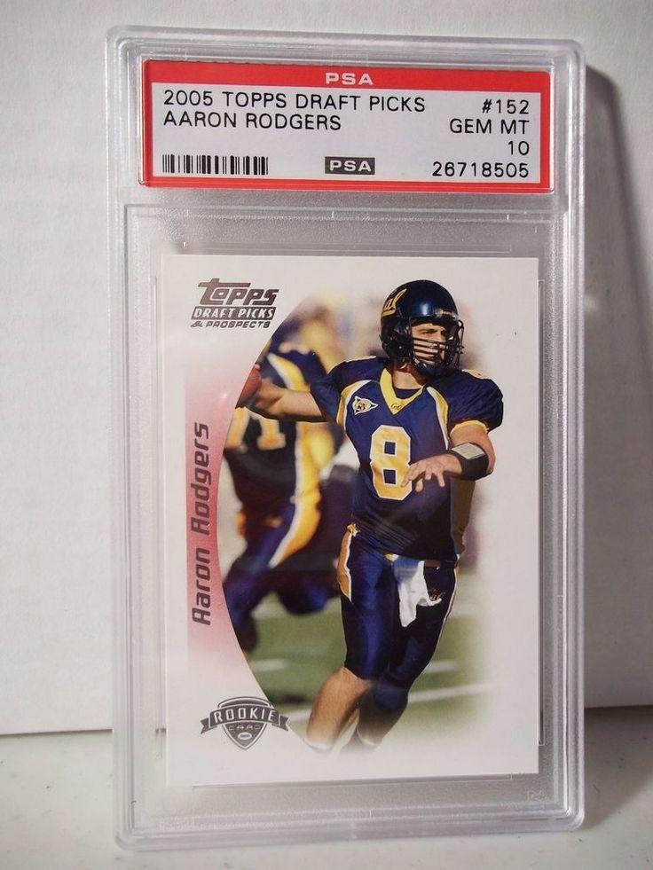 2005 Topps Draft Picks Aaron Rodgers Rookie PSA Gem Mint 10 Football Card #152  #GreenBayPackers