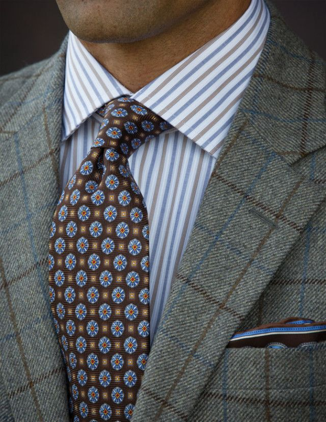 Grey Sport coat  with blue and brown windowpane
