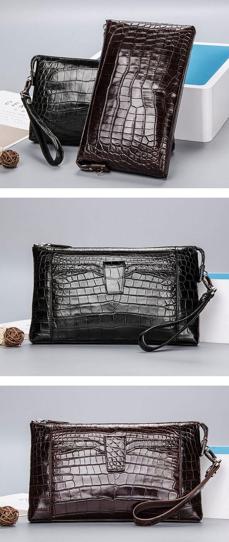 Alligator Clutch Wallet, Mens Business Wallet