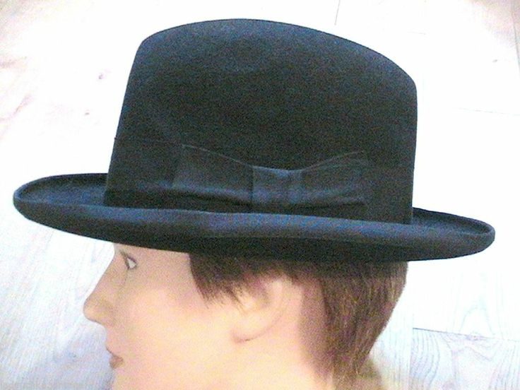 borsalino 1940s men homburg fedora hat black felt made. Black Bedroom Furniture Sets. Home Design Ideas