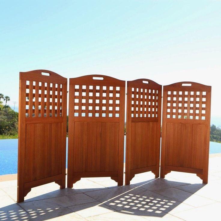 detalles acerca de outdoor privacy screens backyard private space divider 4 panel garden accent - Outdoor Privacy Screens