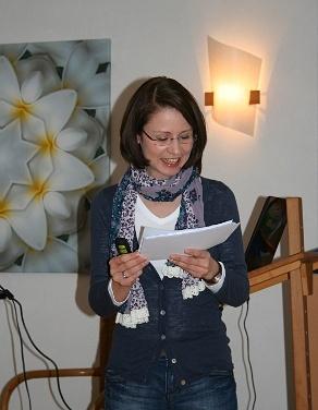 Kathrin Lauber während des mitreißenden Vortrags