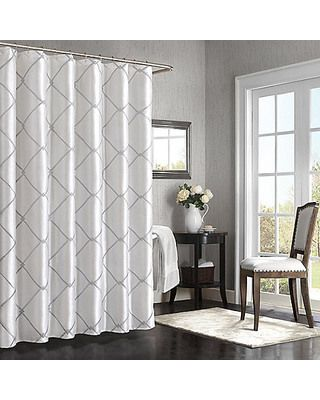the gray white shower curtain i 39 ve been looking for for the home pinterest shower. Black Bedroom Furniture Sets. Home Design Ideas