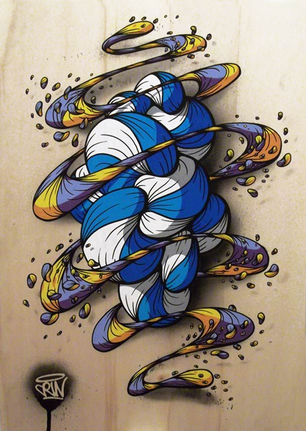 CRIN – 40 créations talentueuses entre Street Art et toile  ...tangle this..one is brunzo, the other, just figure it out,