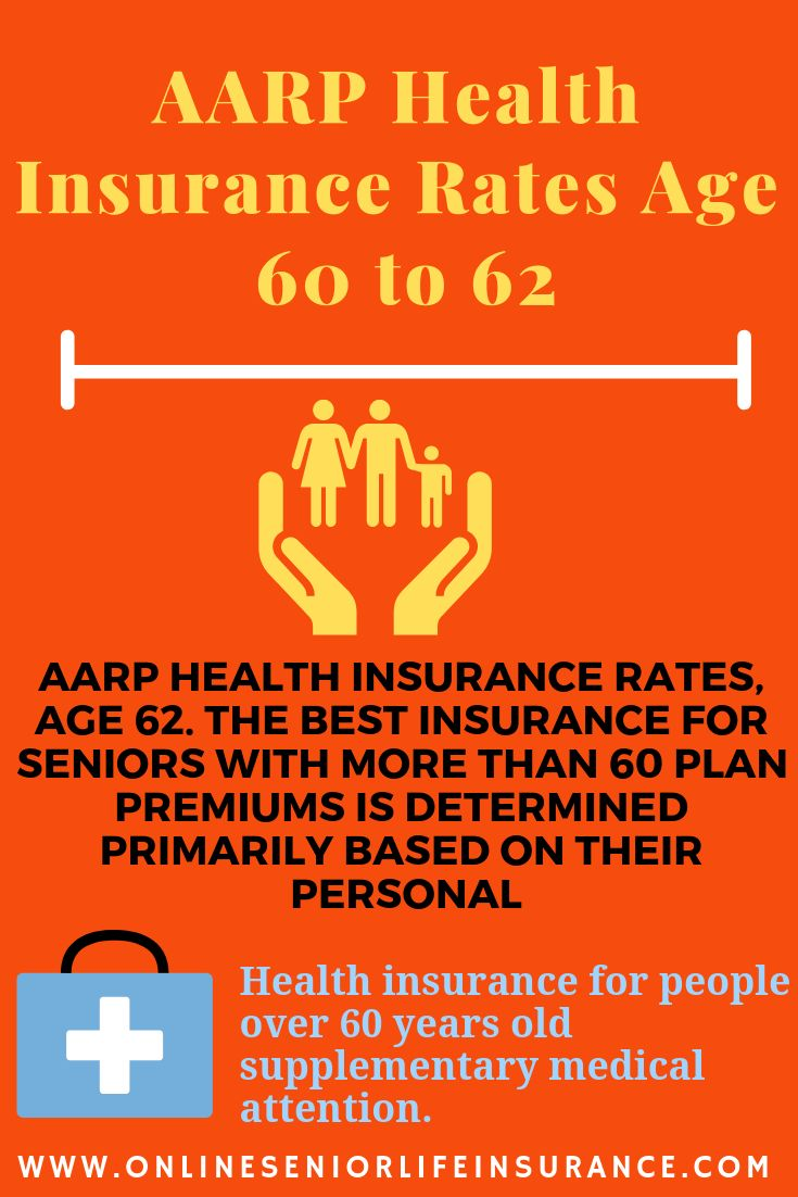 Aarp Health Insurance Rates Age 60 To 62 Health Insurance Life