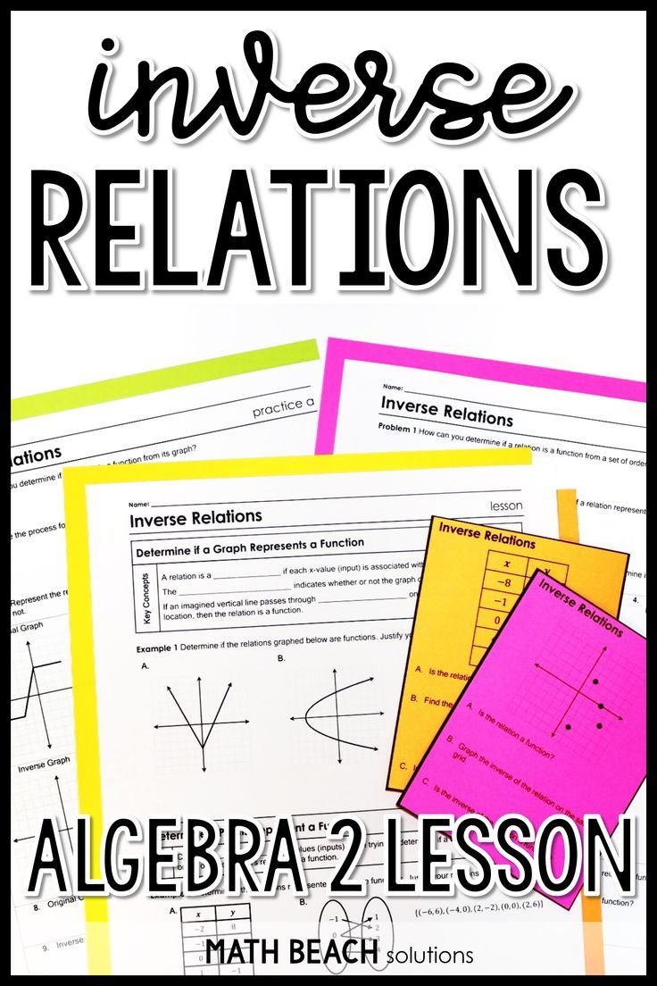 Are You Introducing The Concept Of Invese Relations And Functions To Your Students For The First Time Try Starting With A Algebra Worksheets Lesson Relatable
