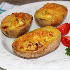 Sült krumpli krémsajtos-hagymás töltelékkel - MindenegybenBlog