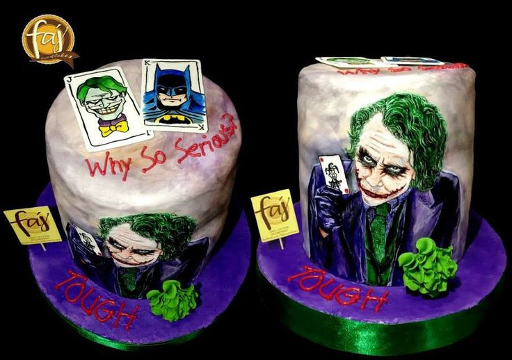 Why so serous? A hand-painted rendition of Heath Ledger's character as Joker. #handpaintedcakes #charactercakes #cakesiligan #FAJ #experienceFAJ #DCcomics #joker #batman