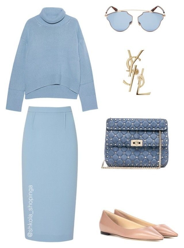 1 by shkolashopinga on Polyvore featuring polyvore fashion style iHeart Roland Mouret Jimmy Choo Valentino Christian Dior Yves Saint Laurent clothing