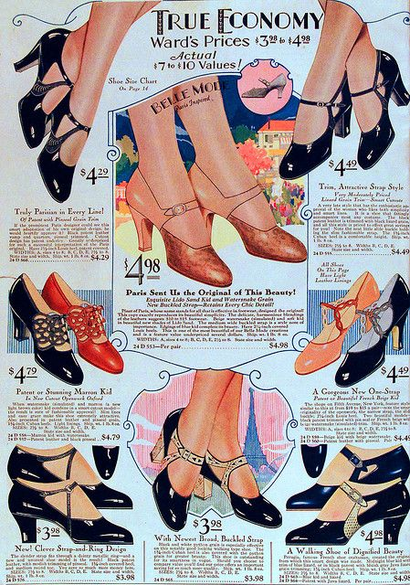 1929 Ward's Shoes ad