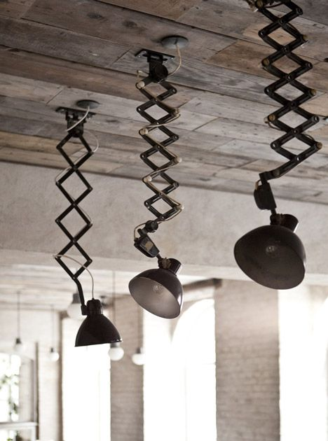 Höst restaurant by Norm Architects and Menu. Attach lights to ceiling instead of table