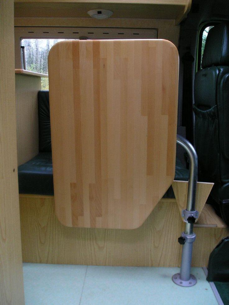 Table pied de table t lescopique pour camping car fourgon fourgon pinterest pieds - Pied de table telescopique ...