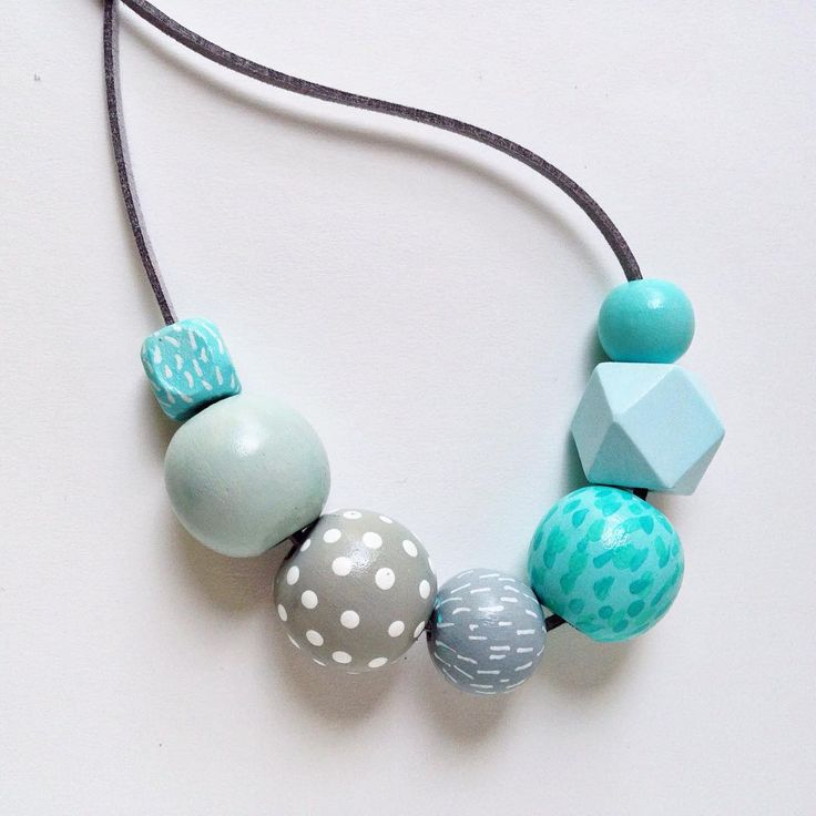 Feeling fresh and minty. Love these colors together ;) up in the store - thecolorfulnest.etsy.com #etsy #etsyseller #woodbeads #statementnecklace #woodbeadnecklace #woodjewelry #paintedbeads #grey #mint #teal #boho #beach #fresh #colorlover