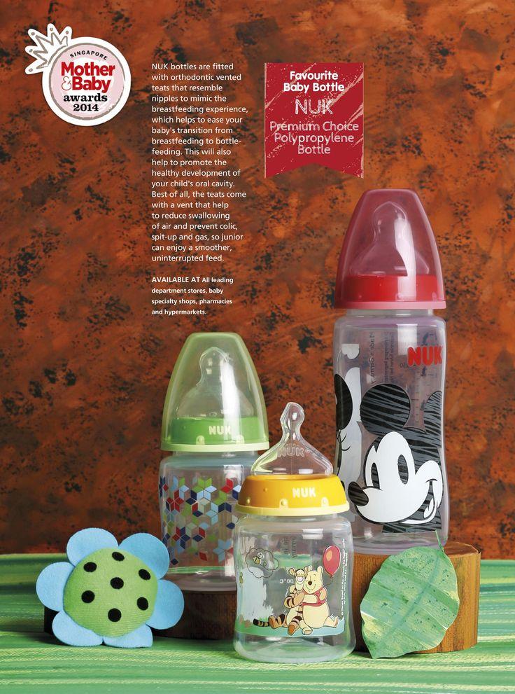 Favourite Baby Bottle: NUK - Premium Choice Polypropylene Bottle