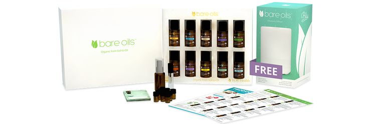BARE OILS - ESSENTIAL SET $429.02 196PV $231.50 IN SAVINGS GREEN KIT 1Boost: Energy Blend (Certified Organic) 15ml 1Clear Mind: Headache Relief Blend (Certified Organic) 15ml 1Purify: Immunity Blend (Certified Organic) 15ml 1Sweet Dreams: Sleep Blend (Certified Organic) 15ml 1Eucalyptus (Certified Organic) 15ml 1Frankincense (Certified Organic) 15ml 1Lavender (Certified Organic) 15ml 1Lemon (Certified Organic) 15ml 1Peppermint (Certified Organic) 15ml 1Tea Tree (Certified Organic) 15ml…
