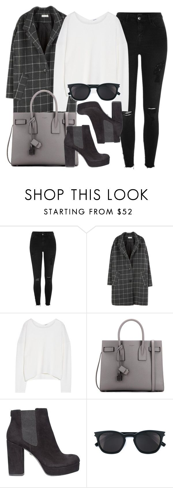 """Style #11547"" by vany-alvarado ❤ liked on Polyvore featuring River Island, Helmut Lang, Yves Saint Laurent and KG Kurt Geiger"