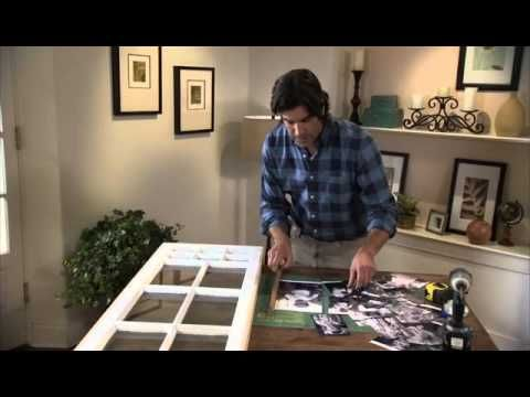 Putting photos on window frame