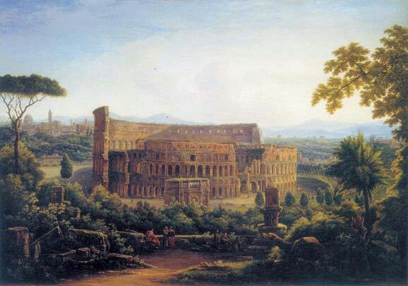 Vista colosseo dipinto del 1816 pittore russo Matveev