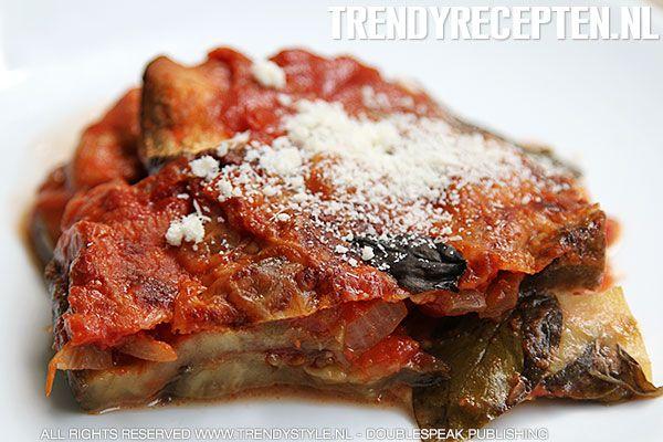 Ovenschotel met aubergines en parmezaanse kaas - Italiaanse keuken - Koken met Trendy Recepten