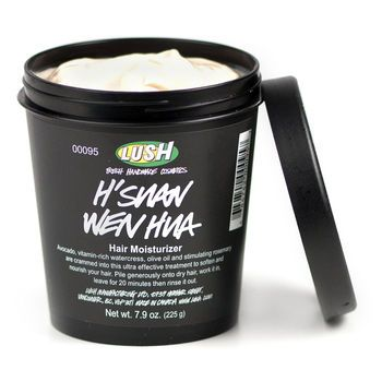 """```````````LUSH HAIR TREATMENTS- -""""H'SUAN WEN HUA"""" This is our intensely moisturizing treatment for truly unruly hair. You don't have to know how to pronounce it, just massage it into scalp and mane and let it go to work for 20-30 minutes before shampooing and conditioning. It's our version of a fresh face mask for the hair, with softening and moisturizing mashed bananas, avocados and olive oil, shine-enhancing balsamic vinegar and fresh eggs."""