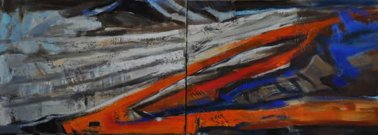 Bez Tytułu 2, Paulina Kowalczyk, olej, 140 x 50, 2013