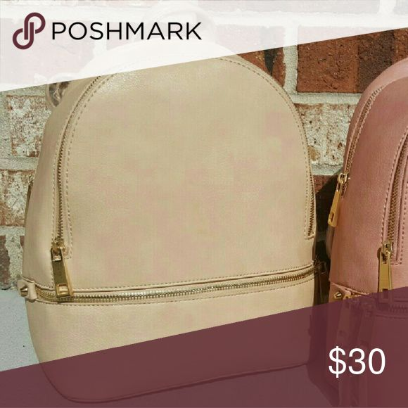 Nude backpack 3 zip backpack.  This nude backpack goes perfect with everything! Bags Backpacks
