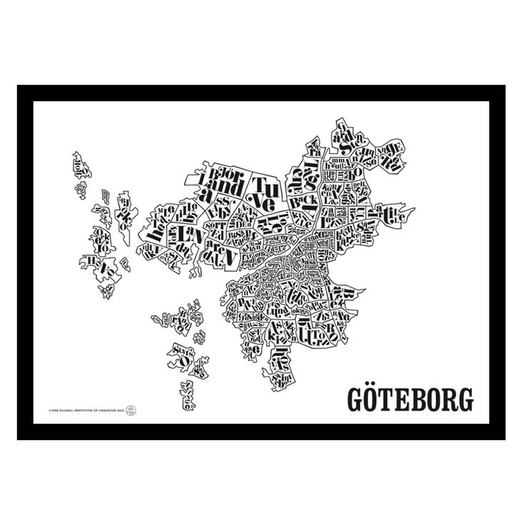 Göteborgskarta poster – TGIOC