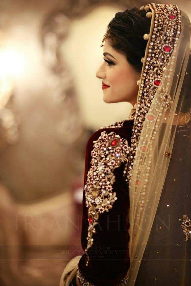 Pakistani bridal, velvet