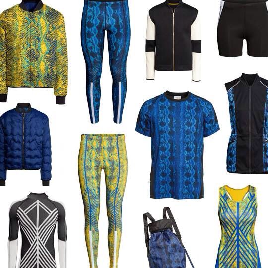 H and M Swedish inspired workout clothes