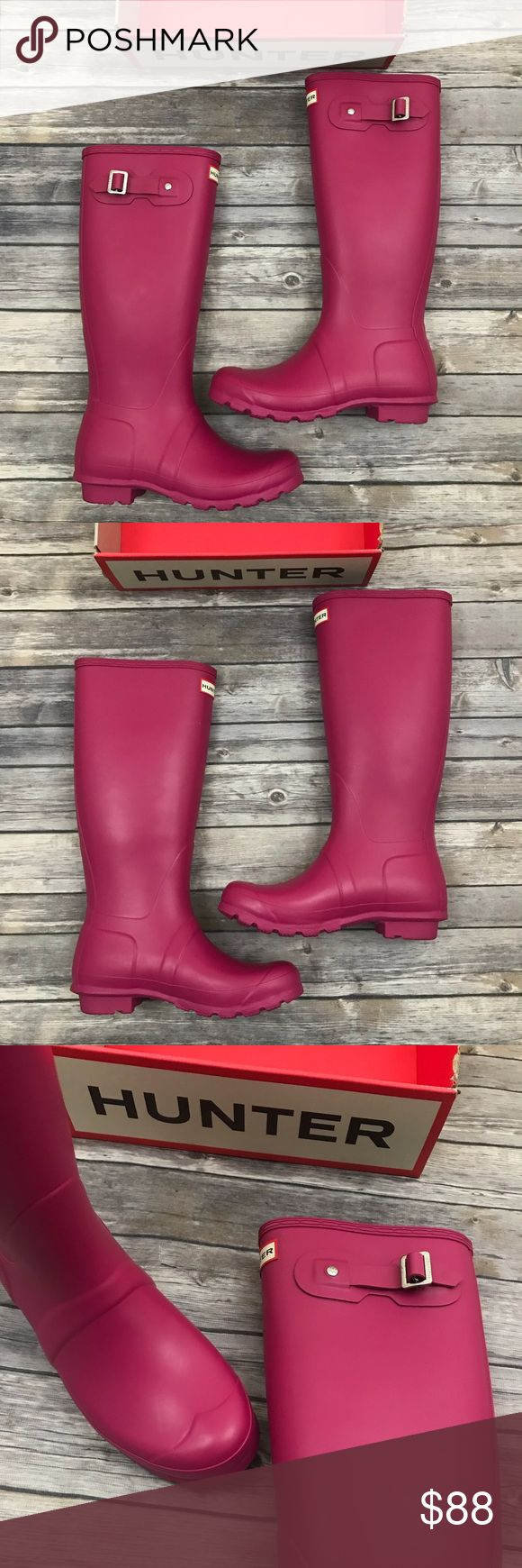 New Hunter Boots Original Tall Peppercorn Boots Hunter Boots Original Tall Matte Peppercorn Rain Boots •New in box (top of box is missing) •Size 7 •Retails for $165  Check out my other listings- Nike, adidas, Michael Kors, Hunter Boots, Kate Spade, Miss Me, Rock Revival, Coach, Wildfox, Victoria's Secret, PINK, True Religion, Ugg Australia, Free People and more! Hunter Shoes Winter & Rain Boots